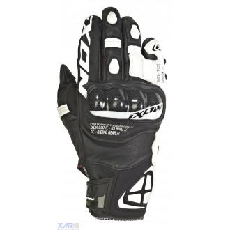 IXON RS RING gant ete cuir/textile H NOIR / BLANC