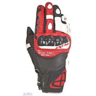 IXON RS RING gant ete cuir/textile H NOIR / BLANC / ROUGE