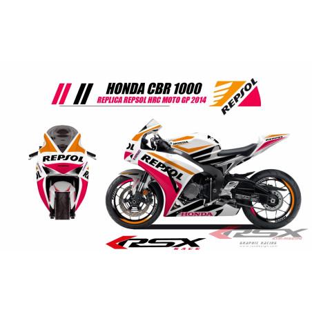 RSX kit déco racing HONDA CBR1000 REPSOL 12-