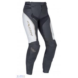 IXON TRINITY PT pantalon cuir F BLANC / NOIR / OR