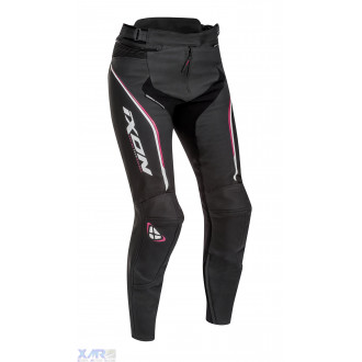 IXON TRINITY PT pantalon cuir F NOIR / BLANC / FUSHIA
