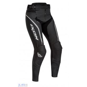 IXON TRINITY PT pantalon cuir F NOIR / BLANC / GRIS