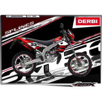 RSX kit déco racing DERBI 50 SM SPLINES
