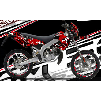 RSX kit déco racing DERBI 50 SM SCRATCH
