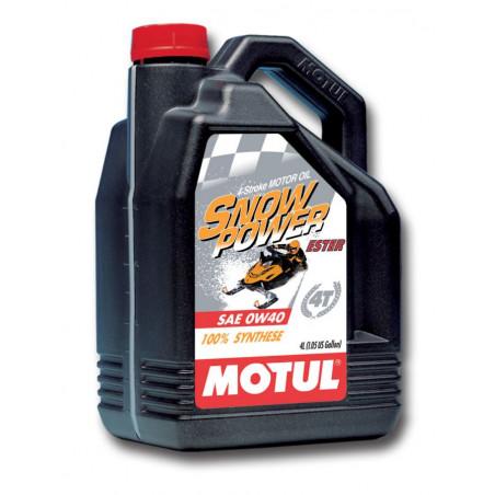 MOTUL huile moteur loisirs 100% SYNTHESE  snowpower 4T  0W40