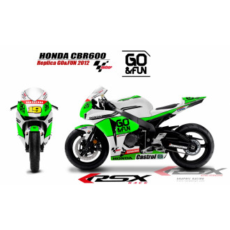 RSX kit déco racing HONDA CBR1000 SANCARLO 08-12