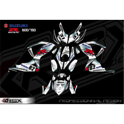 RSX kit déco racing SUZUKI GSXR600-750 KLS.V1 08-12