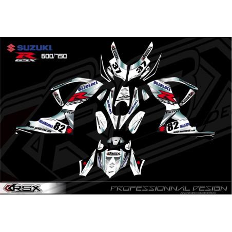 RSX kit déco racing SUZUKI GSXR 600-750 KLS.V1 08-