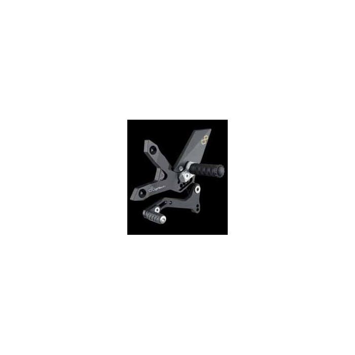 LIGHTECH aluminium taillé masse COMMANDES RECULEES KAWASAKI Z750 07-12