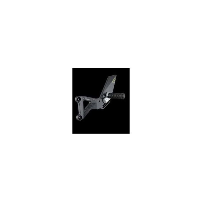 LIGHTECH aluminium taillé masse COMMANDES RECULEES TRIUMPH 675 DAYTONA 06-12 (boite inversée)