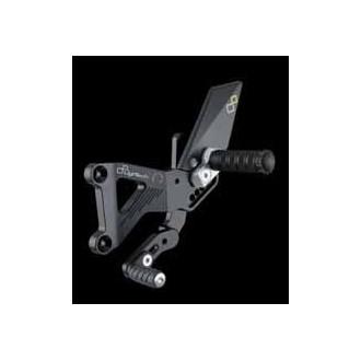 LIGHTECH aluminium taillé masse COMMANDES RECULEES TRIUMPH 675 DAYTONA 06-12 (boite standard)