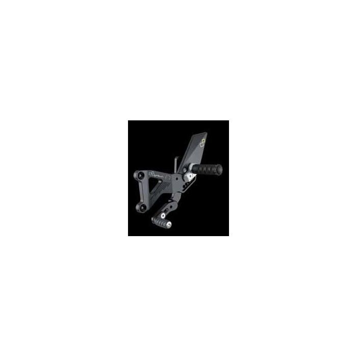 LIGHTECH aluminium taillé masse COMMANDES RECULEES TRIUMPH 675 STREET TRIPLE 07-12 (boite standard)