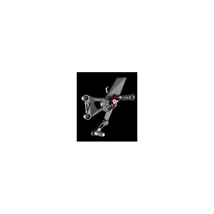 LIGHTECH aluminium taillé masse COMMANDES RECULEES LIMITED EDITION BMW S1000RR 09-12 (boite standard)