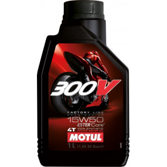 MOTUL huile moteur 100% SYNTHESE  300V 4T factory line 15W50