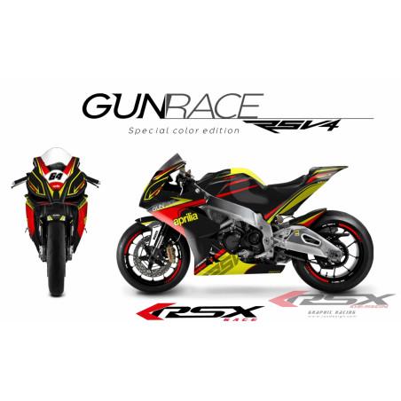RSX kit déco racing APRILIA RSV4 GUNRACE spécial