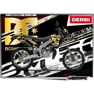 RSX kit déco racing DERBI 50 SM DC SHOES