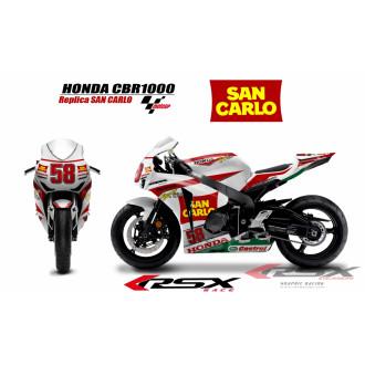 RSX kit déco racing HONDA CBR1000 SANCARLO 08-12