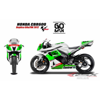 RSX kit déco racing HONDA CBR600 REPSOL 07-12