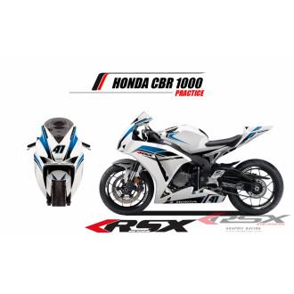 RSX kit déco racing HONDA CBR1000 PRACTICE 12-