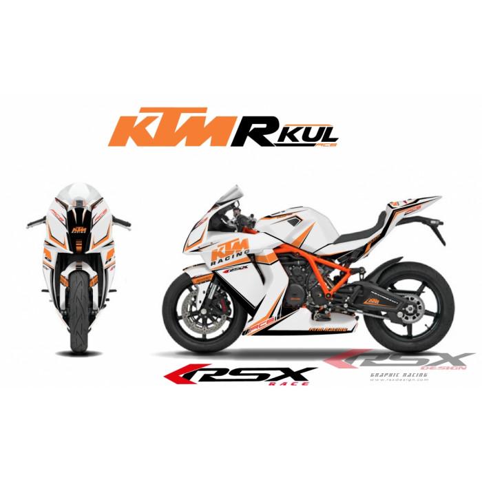 RSX kit déco racing KTM RC8 R-KUL 08-