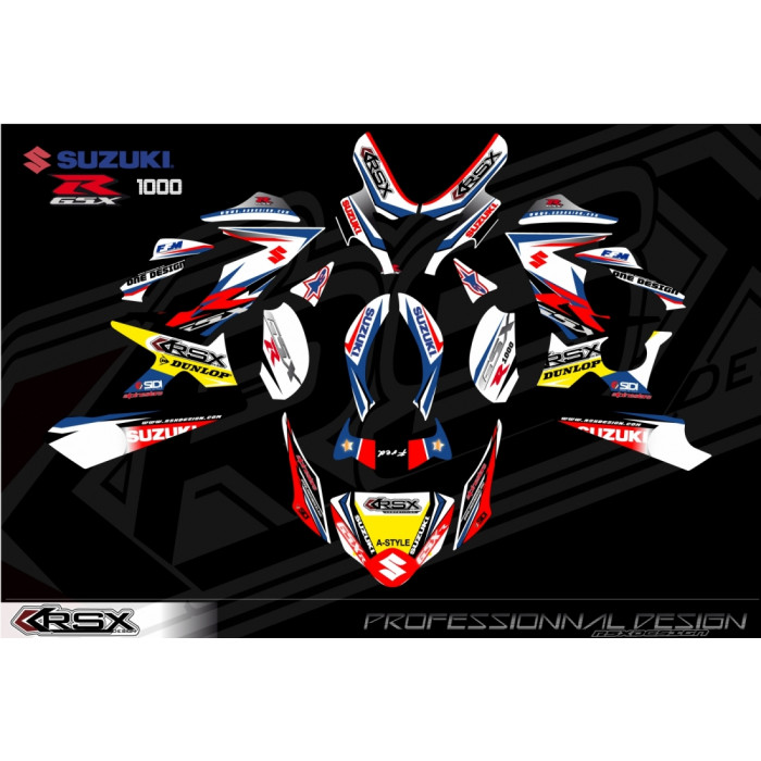 RSX kit déco racing SUZUKI GSXR1000 KLS.V1 05-06