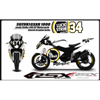 RSX kit déco racing SUZUKI GSXR1000 LUCKY STRIKE 05-06
