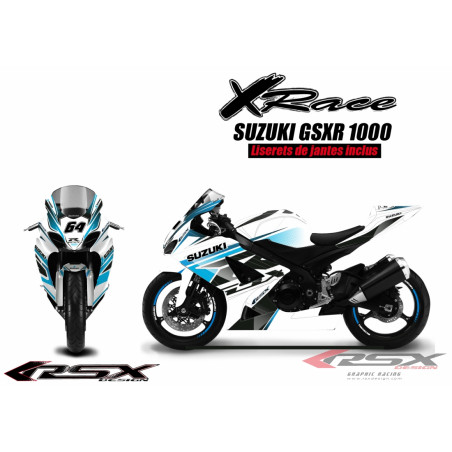 RSX kit déco racing SUZUKI GSXR1000 X-RACE 07-08