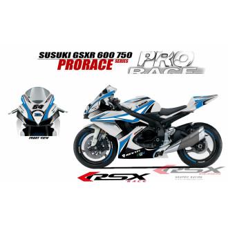 RSX kit déco racing SUZUKI GSXR 600-750 PRORACE 08-