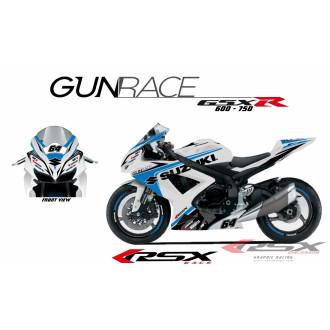 RSX kit déco racing SUZUKI GSXR 600-750 GUNRACE 08-