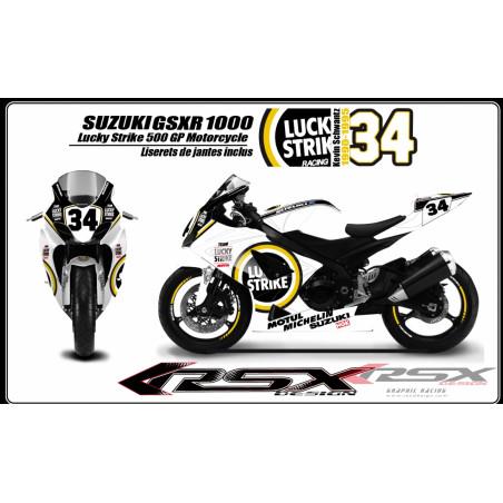RSX kit déco racing SUZUKI GSXR 600-750 LUCKY STRIKE 08-