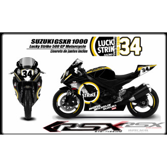 RSX kit déco racing SUZUKI GSXR 600-750 LUCKY STRIKE 08-